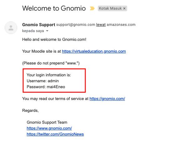 Email dari Gnomio