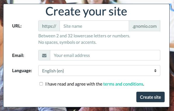 Gnomio Create your site