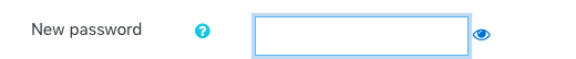 New Password moodle klik