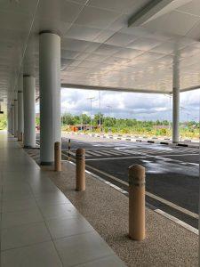 Gedung Rapid Test Bandara Syamsudin Noor (BDJ) Banjarbaru dari jauh