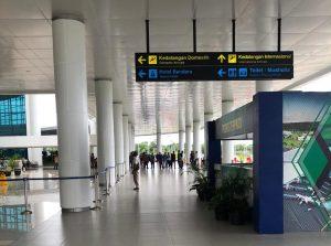 Pintu Kedatangan Domestik Bandara Syamsudin Noor (BDJ) Banjarbaru